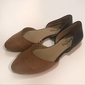 Kenneth Cole Reaction Multi D'Orsay Flats Size 6